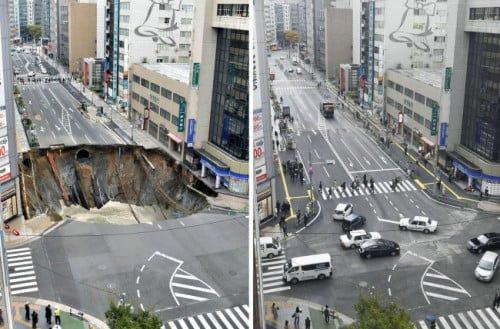 Perbaikan jalan secepat kilat di Jepang